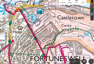 OS Maps Castletown to the Verne #getoutside